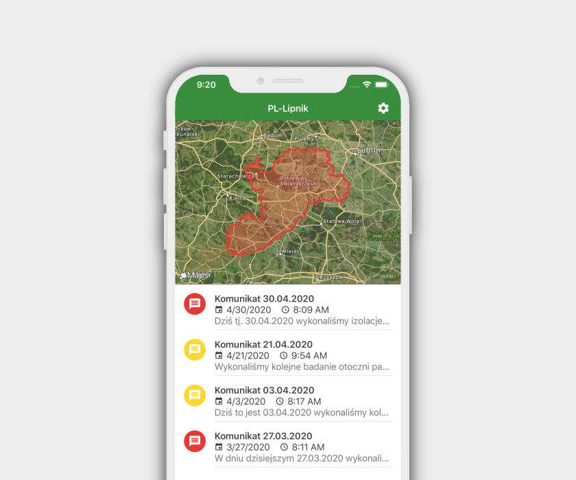 Cross-platform mobile apps for farmers in Hungary and Poland, and corresponding backend